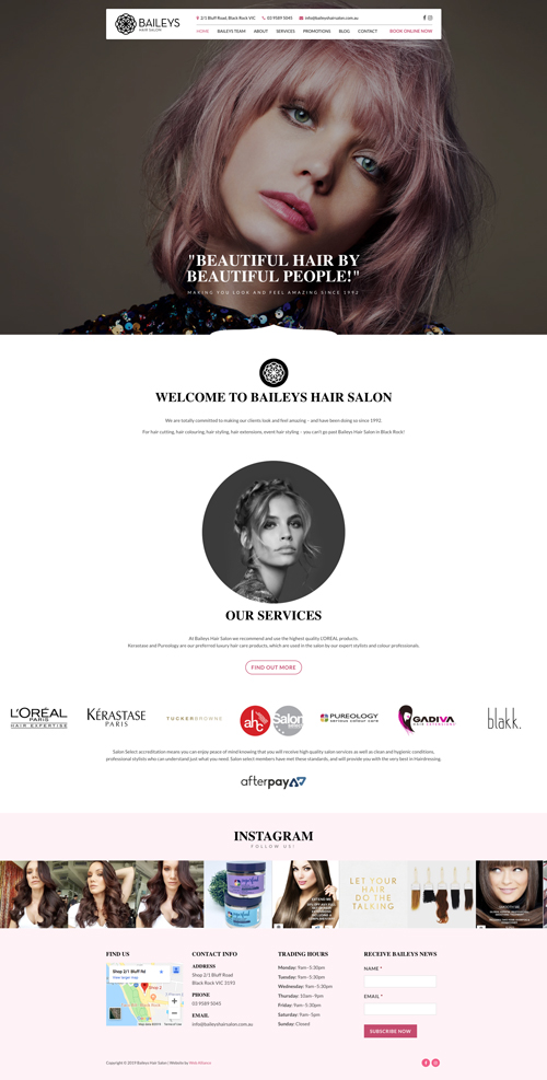 baileys-hair-salon-website-design