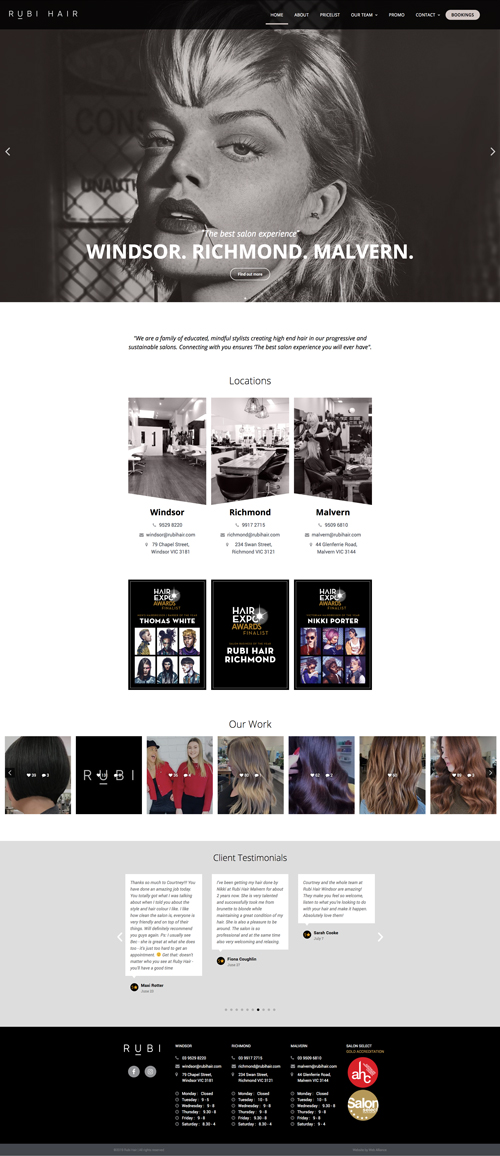 rubi-hair-website-design